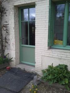 Porte d'entrée et fenêtre en aluminium de couleur
