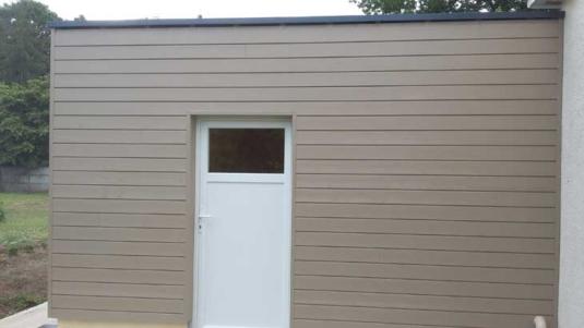Réalisation d'un garage ossature bois.