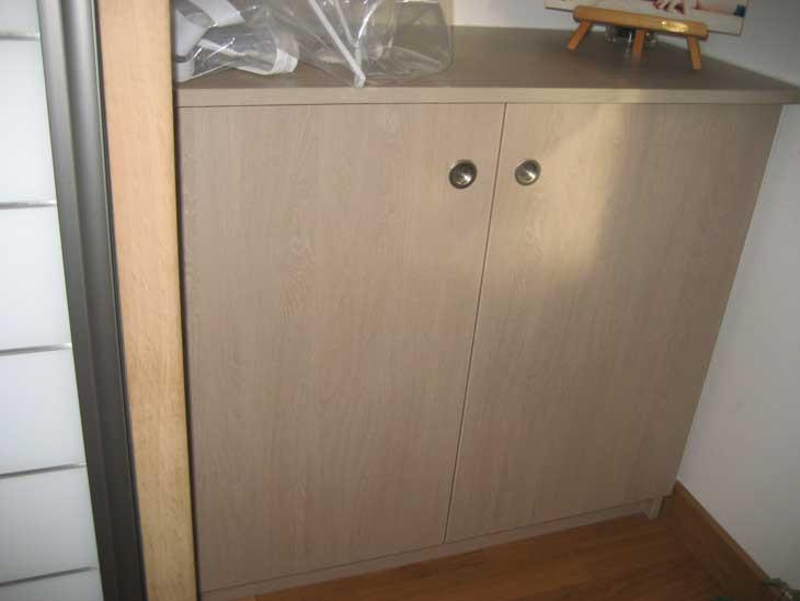 Fabrication meuble sur-mesure. Finition chêne lavé