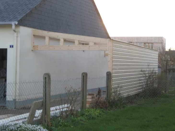 Extension ossature bois 44 prix dijon design for Extension garage prix