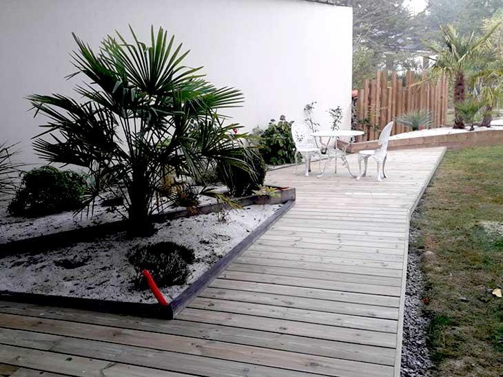 Terrasse bois en pin autoclave traité classe 4