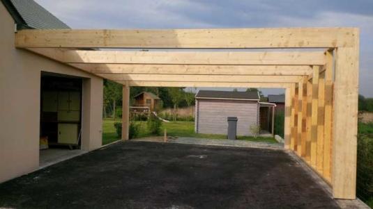 Garage ossature bois Carport